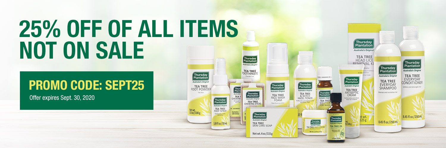 Back in Stock! Tea Tree Solution for Nails, Tea Tree Face Cream, and Tea Tree Cinnamon Chewing Sticks are now available!
